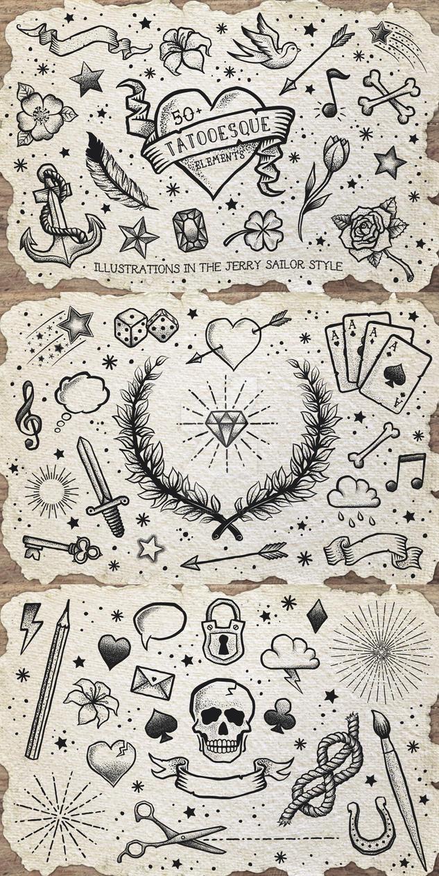 Tattooesque Elements by Jeremychild