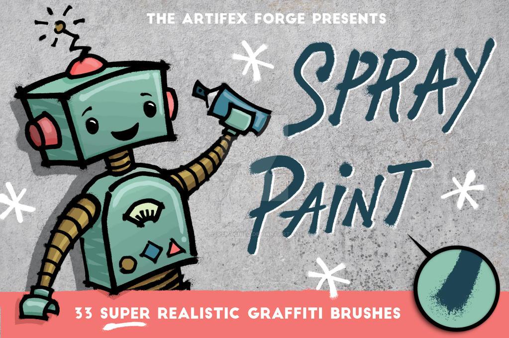 Spray Paint Brushes by Jeremychild