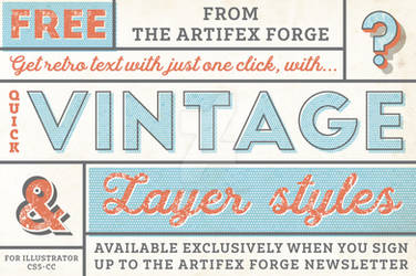 FREE Quick Vintage Layer Styles for Illustrator