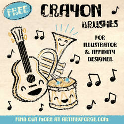 FREE Crayon Brushes for Illustrator and Affinity