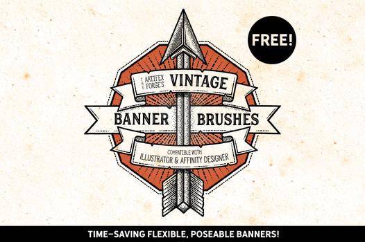 FREE - Vintage Banner Brushes