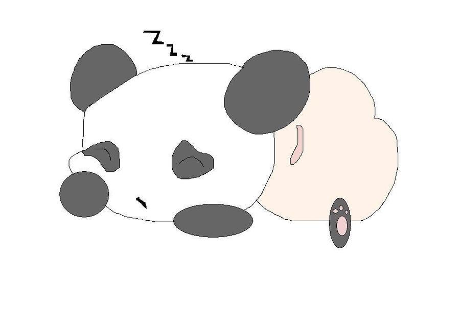 Chibi AnimalSleeping Panda By PinkPoodle67