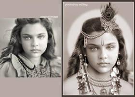 girl-krishna by raghulale