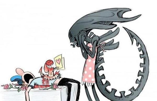 Alien-mom by Dragon-Claw666