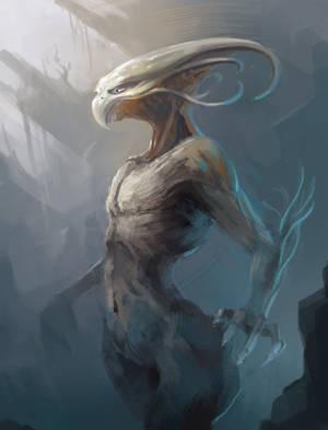 Alien...chicken thing by NikolaEnchev