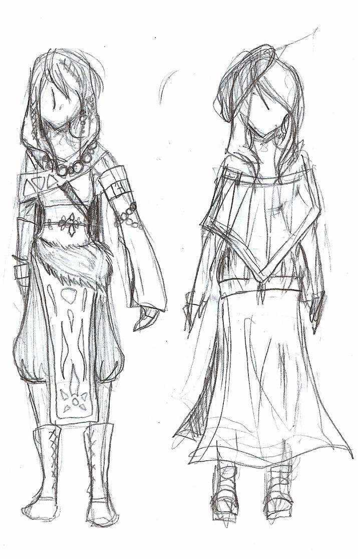 clothing sketches