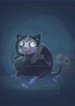 halloween dress up: cat