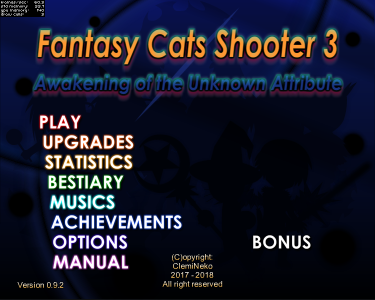 FCS3: Main Menu by ClemiNeko