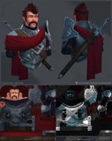 Knight Bust Style Study - Realism by Alemja