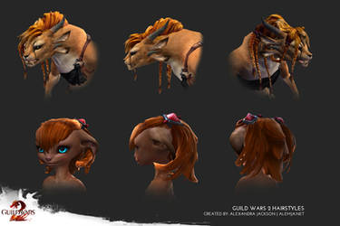 Guild Wars 2 Hairstyles by Alemja