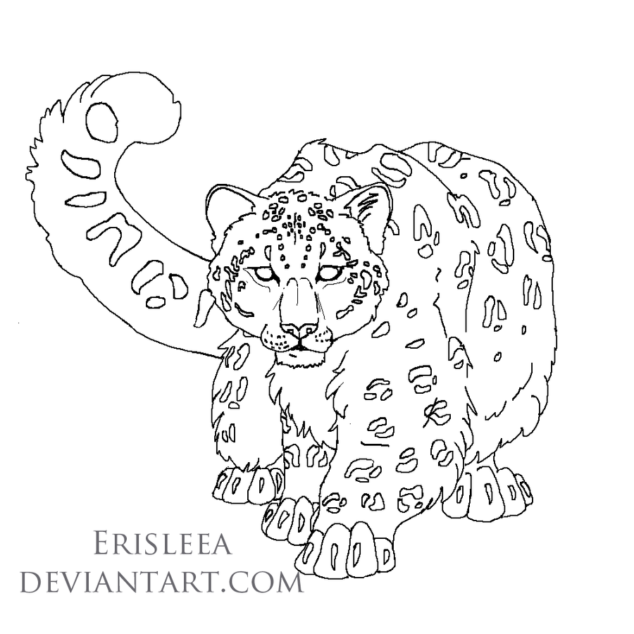free snow leopard coloring pages - photo#32