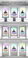 Realistic Citylight Poster Mock-Up by kotulsky