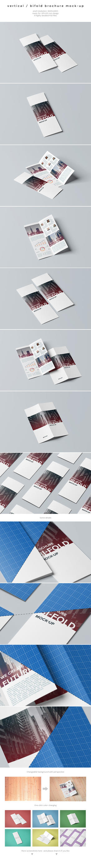 Vertical / Bifold Brochure Mock-Up by kotulsky