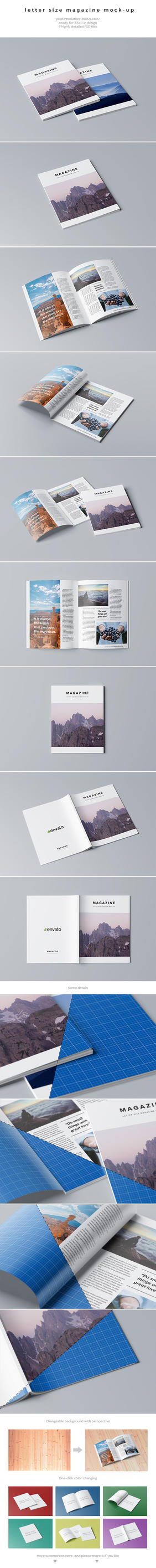 Letter Size Magazine Mock-Up by kotulsky