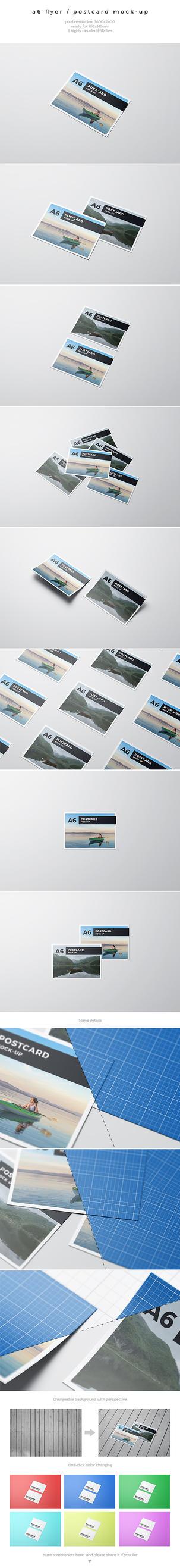 A6 Flyer / Postcard Mock-Up by kotulsky
