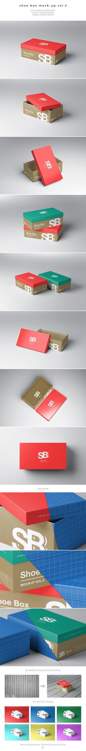Shoe Box Mockup Vol.2 by kotulsky
