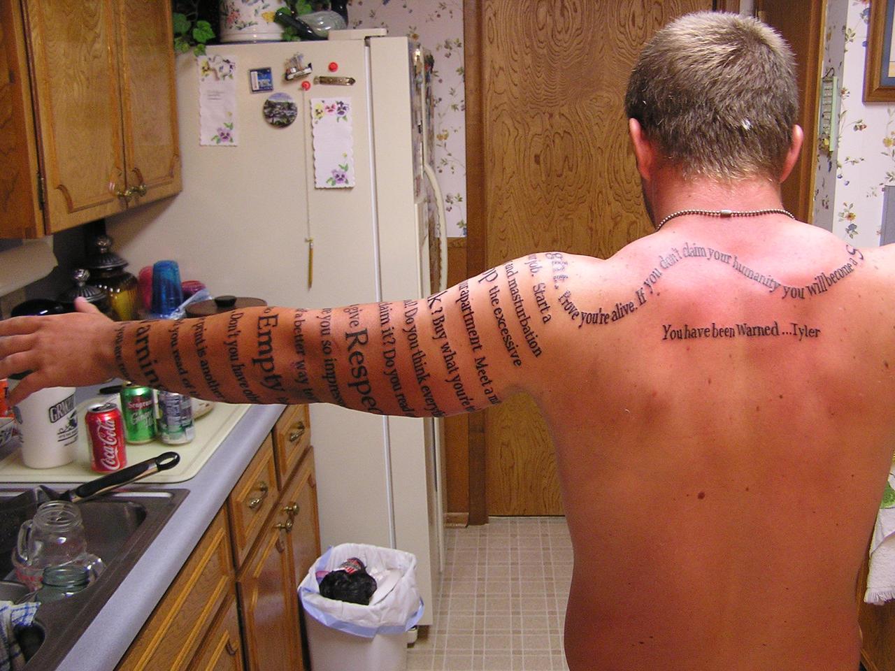 Matt's Tattoo - Arm's length