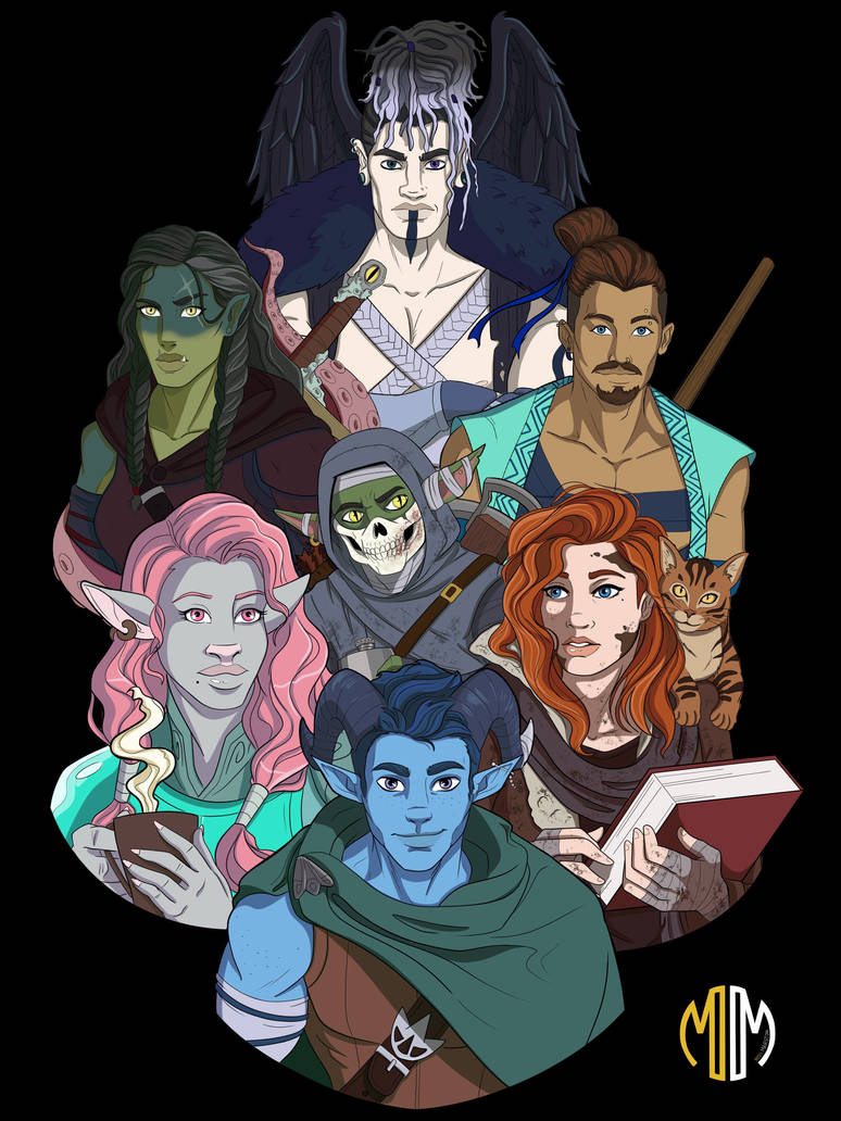 Gender swapped critical role mighty nein by Tkovacevic on ...