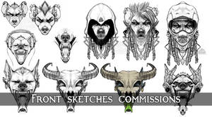 Front Sketches Commissions - CLOSED!
