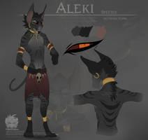 Aleki Ref sheet by MajinBanzai