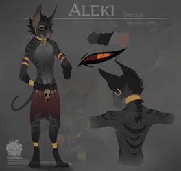 Aleki Ref sheet by IntiZai
