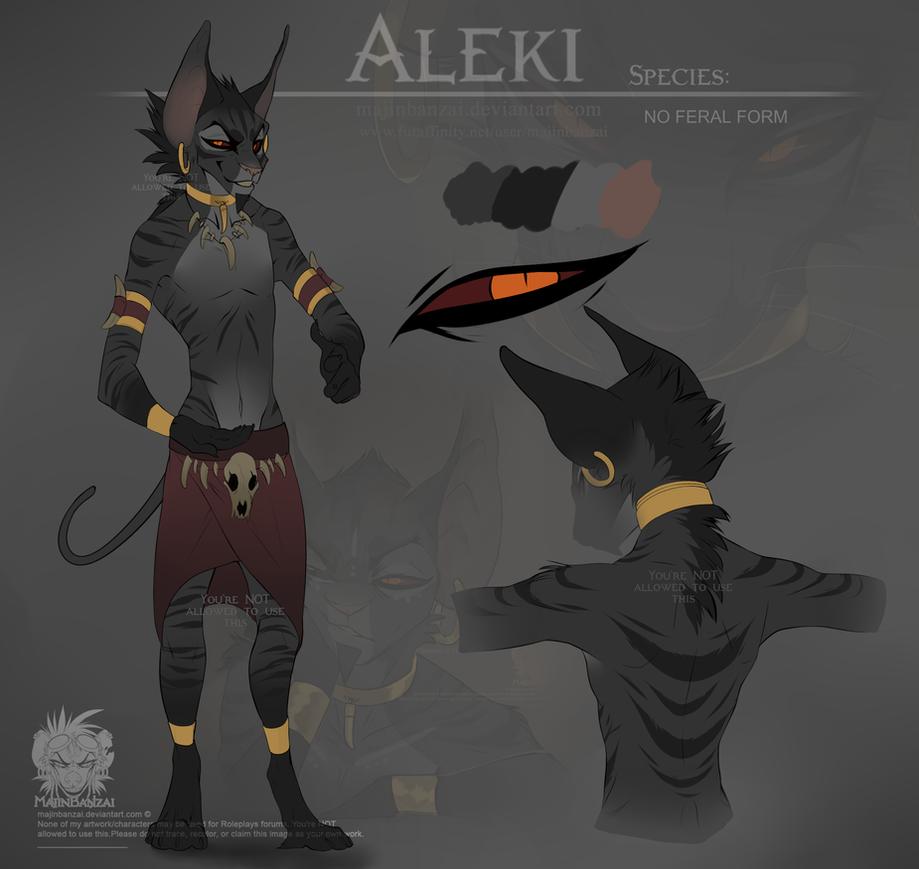 Aleki Ref sheet by MajinBanzai on DeviantArt