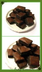 Fudge Brownies by HanaClayWorks