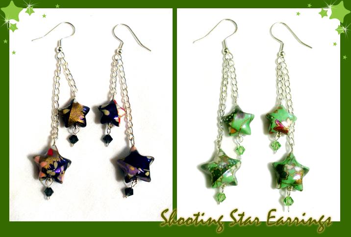 Paper Earrings by HanaClayWorks
