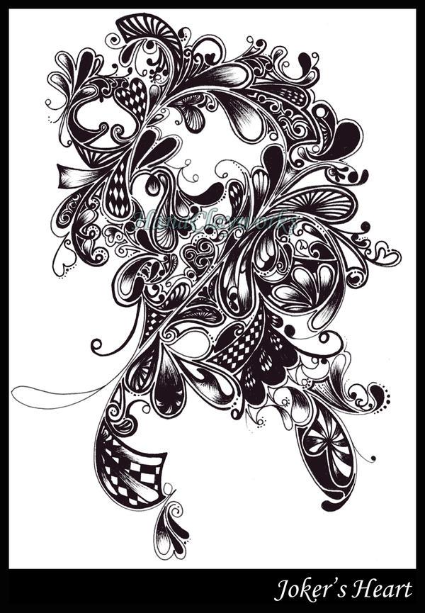 Joker's Heart by HanaClayWorks