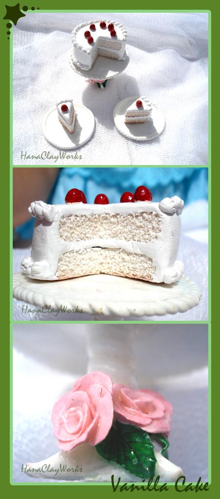 Vanilla Cake by HanaClayWorks
