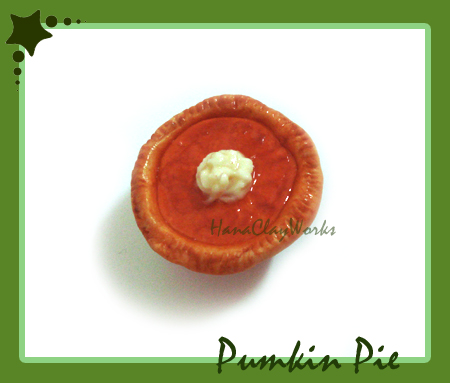 Pumpkin Pie Magnet by HanaClayWorks