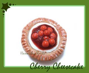 Cherry Cheesecake Magnet by HanaClayWorks