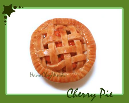 Cherry Pie Magnet by HanaClayWorks