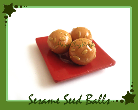 Sesame Balls by HanaClayWorks