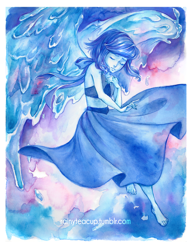 Watercolor of Lapis from Steven Universe Prints available in my store! Tumblr • Twitter • Instagram • Facebook • Store • Website