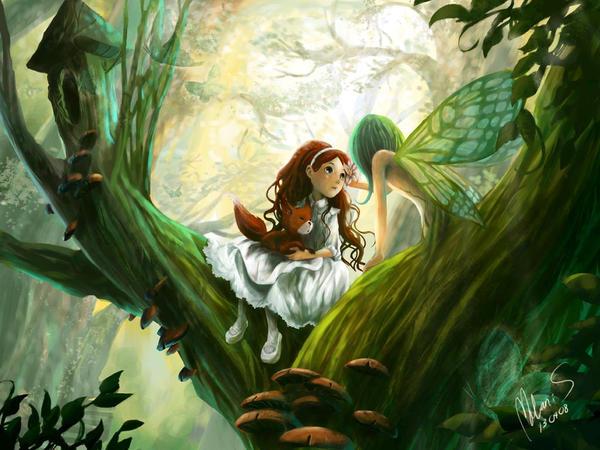 Sasha and the fairy - Darkmello, DeviantArt