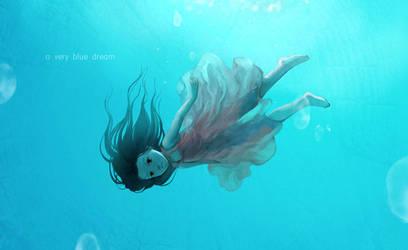 A very blue dream by darkmello