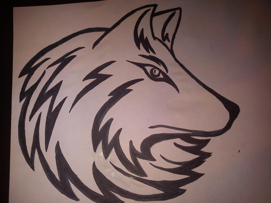 wolf head tattoo. Wolf Head Tattoo Design by