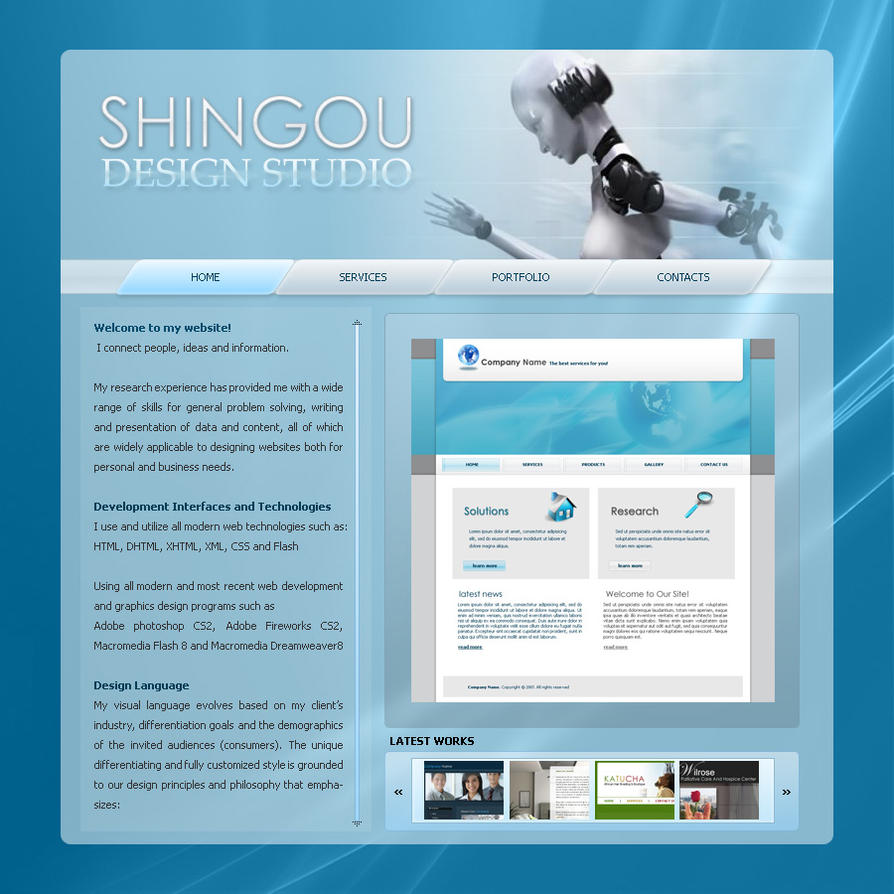 Web Template28 by shingou