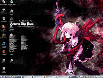 Current Desktop - Dark Saber by seraphim1313