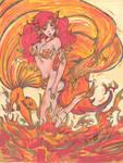 fiery kitsune