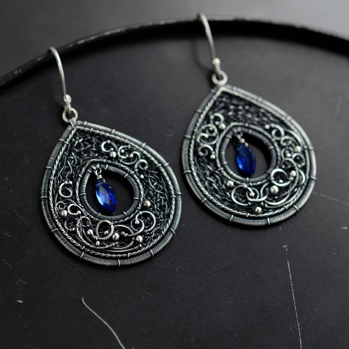 CORNFLOWERS - earrings by JoannaWatracz