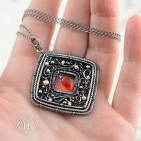 Glimmer - necklace by JoannaWatracz