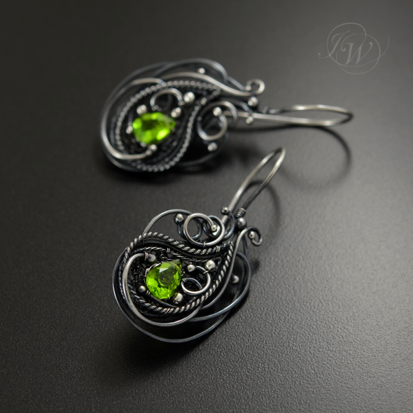 EDERA - wire wrapping earrings by JoannaWatracz