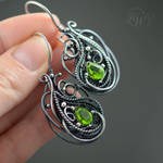 EDERA - wire wrapping earrings