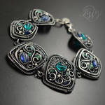 BLUEBELLS - filigree bracelet