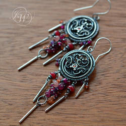 STORY ABOUT ADELINE - handmade earrings by JoannaWatracz