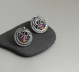 THUMBELINA - silver stud earrings by JoannaWatracz