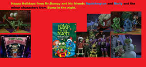 Bump in the night christmas card.
