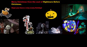 Nightmare Before Christmas,Christmas Card.